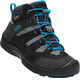Keen Hikeport Mid WP Shoes Youths Black/Blue Jewel